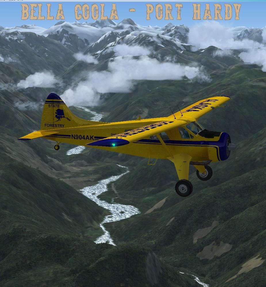 Erster Flug Bella Coola - Port Hardy Bph05