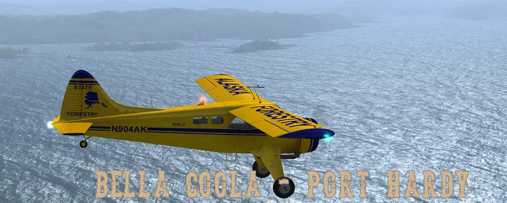 Erster Flug Bella Coola - Port Hardy Bph06