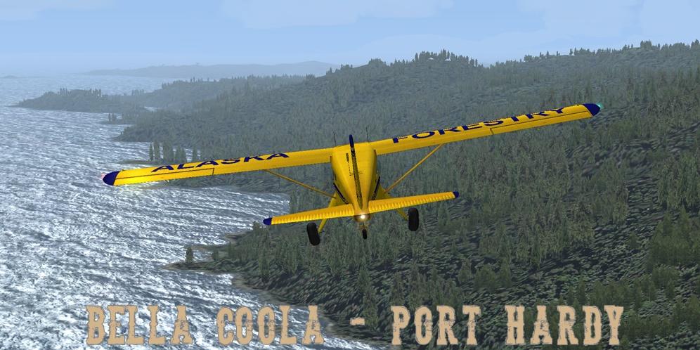 Erster Flug Bella Coola - Port Hardy Bph08