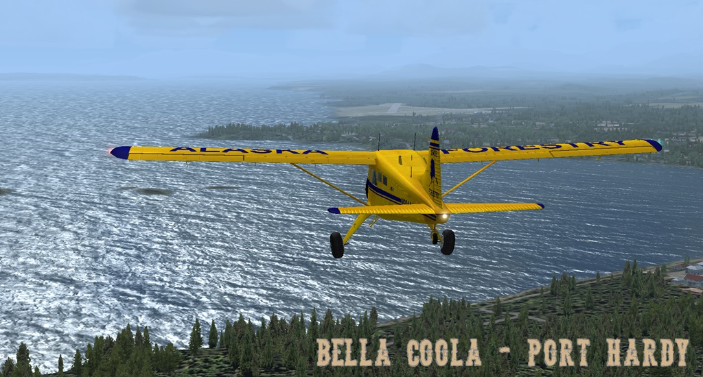 Erster Flug Bella Coola - Port Hardy Bph09